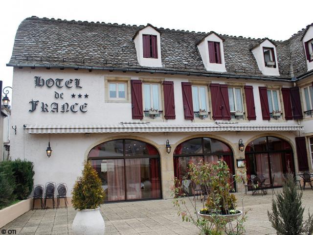 Façade de l'hôtel de France à Mende